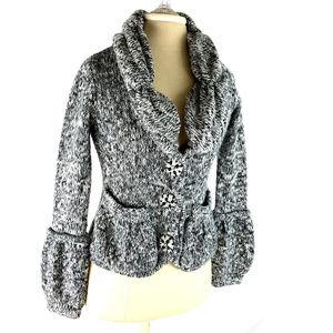 BCBGMaxazria Knit Button Down Sweater W Pockets